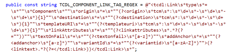 TCDL_Component_Link_Regex